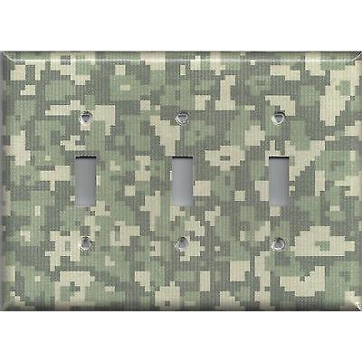 Army Digital Desert Camo/Camouflage Triple Toggle Light Switch Plate- Simply Chic Gal