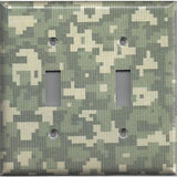 Army Digital Desert Camo/Camouflage Double Toggle Light Switch Plate- Simply Chic Gal
