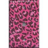 Phone Jack Cover in Hot Pink & Black Leopard Animal Print- Handmade Home Decor- Simply Chic Gal