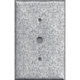 Cable Jack Cover in Silver Gray Grey Damask Print Handmade- Simply Chic Gal