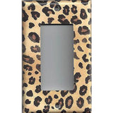 Single Rocker Decora GFI Outlet Cover in Leopard Spots Animal Print African Decor