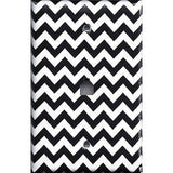 Black Chevron Pattern Phone Jack Cover- Handmade Home Decor - Simply Chic Gal