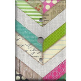 Shabby Chic County Multi Color Chevron Stripes Light Switchplates Outlet Covers - Simply Chic Gal