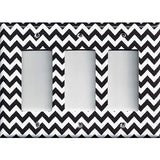 Black Chevron Pattern Triple Rocker Decora GFI Outlet Cover- Handmade Home Decor - Simply Chic Gal