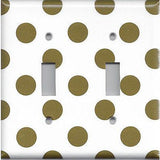 Chocolate Brown Polka Dots Light Switchplates, Outlet Covers, Light Switch Covers