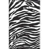 Single Blank Cover in Zebra Stripes Black & White Animal Print