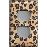 Wall Outlet Plate Cover in Leopard Spots Animal Print African Decor