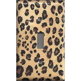 Single Light Switch Plate Cover in Leopard Spots Animal Print African Decor