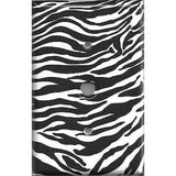 Zebra Print Black & White Stripes Animal Print Light Switchplates/Outlet Covers - Simply Chic Gal