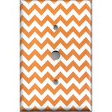 Cable Jack Cover in Orange & White Chevron Print Handmade- Simply Chic Gal