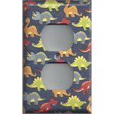 Wall Outlet Plate Cover in Small Dinosaurs Boys Bedroom Decor