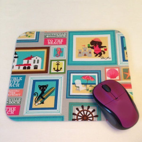 Beach Vacation House & Pets Photo Frames Mouse Pad Office Desk Decor Makes a Great Coworker Gift or Teacher Gift