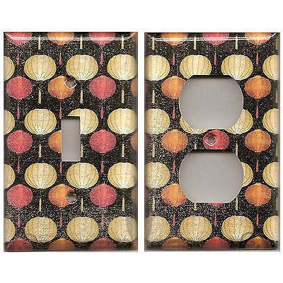 Paper Lanterns Asian Decor Handmade Light Switch Plate Covers & Outlet Covers- Simply Chic Gal