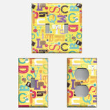 Back to School Alphabet Classroom Decor Light Switch Covers & Outlet Covers Hand Made