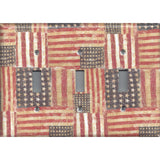 Triple Toggle Light Switch Plate in Rustic American Flags Patriotic Decor
