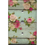 Cable Jack Cover in Barnwood Rustic Farmhouse Floral