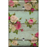 Single Blank Cover in Barnwood Rustic Farmhouse Floral