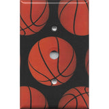 Basketball Sports Theme Kids Room Decor Man Cave Basketballs Cable Jack Cover