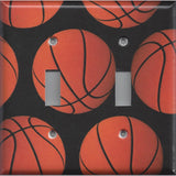 Basketball Sport Theme Kids Room Decor Man Cave Double Toggle Light Switch Cover