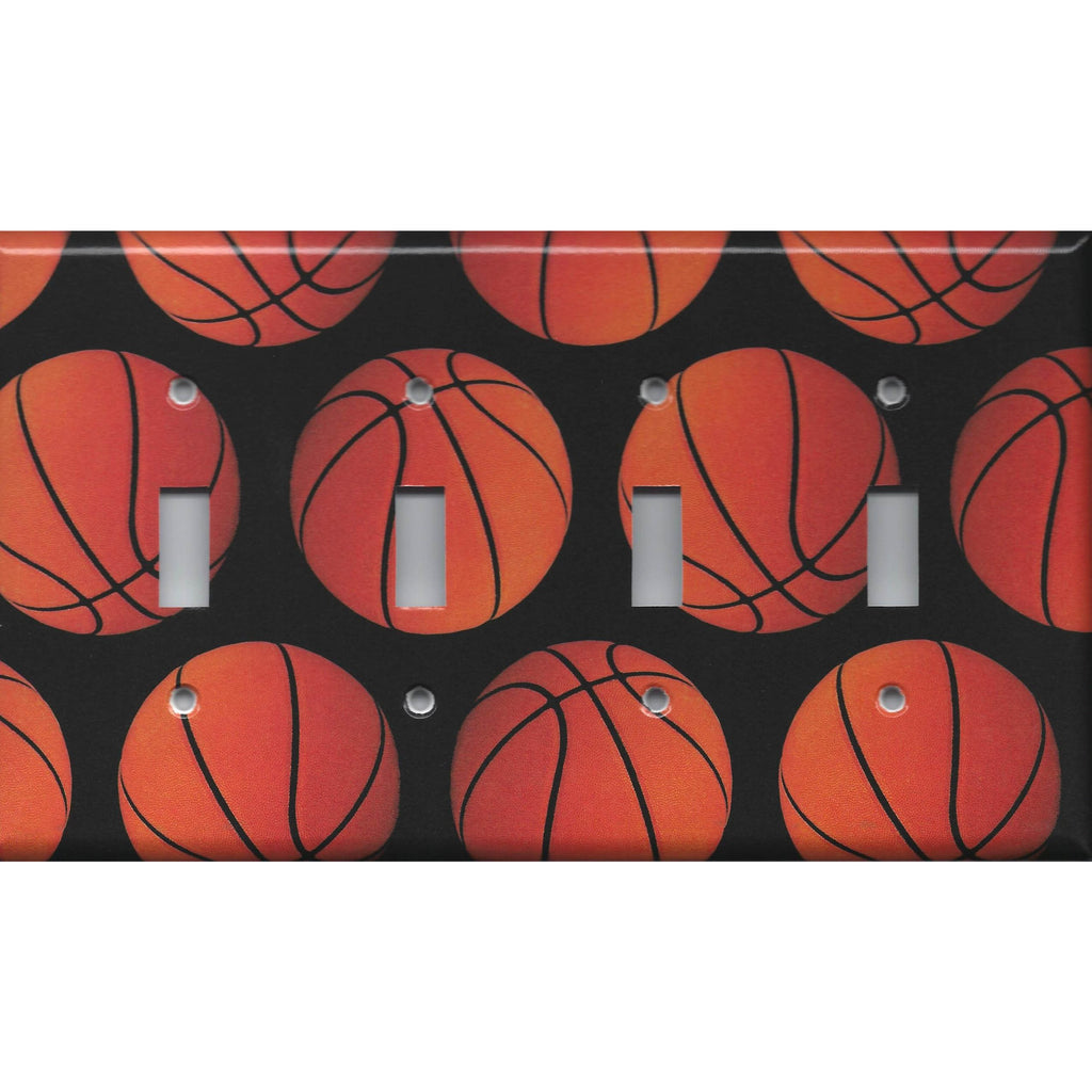 Basketball Sport Theme Kids Room Man Cave Light Switch Covers & Wall Outlet Covers