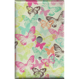 Cable Jack Cover in Multi Color Pastel Butterflies