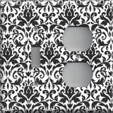 Black and White Damask Combo Light Switch and Outlet Cover- Handmade Home Decor- Simply Chic Gal