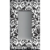 Black and White Damask Single Rocker Decora GFI Outlet Cover- Handmade Home Decor- Simply Chic Gal