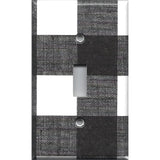 Black and White Buffalo Check Plaid Single Toggle Light Switch Cover- Handmade Home Decor