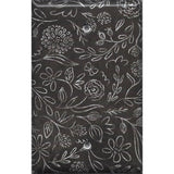 Single Blank Cover in Faux Chalkboard Flowers Farmhouse Decor