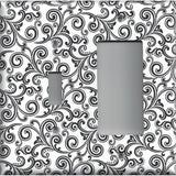 Black & White Filigree Swirls Combo Light Switch and Decora GFI Outlet Cover- Handmade Home Decor
