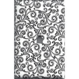 Black & White Filigree Swirls Phone Jack Cover- Handmade Home Decor- Simply Chic Gal