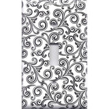 Black & White Filigree Swirls Single Toggle Light Switch Cover- Handmade Home Decor- Simply Chic Gal