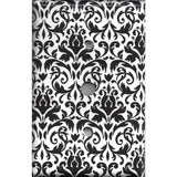 Black and White Damask Cable Jack Cover- Handmade Home Decor- Simply Chic Gal