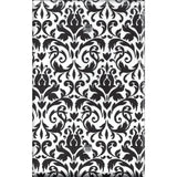 Black and White Damask Single Blank Cover- Handmade Home Decor- Simply Chic Gal