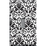 Black and White Damask Single Toggle Light Switch Plate Cover- Handmade Home Decor- Simply Chic Gal