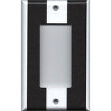 Single Rocker Decora GFI Outlet Cover in Black and White Wide Stripes
