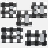 Farmhouse Black and White Buffalo Plaid Light Switch & Outlet Covers