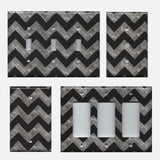 Faux Chalkboard Art Chevron Print Light Switch Plates & Outlet Covers