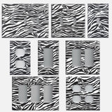 Zebra Stripes Black & White Animal Print Light Switch & Outlet Covers