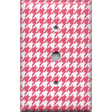Blush Pink Houndstooth Cable Jack Cover