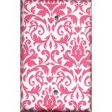 Single Blank Cover in Blush Pink & White Floral Damask Handmade- Simply Chic Gal