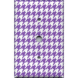 Cable Jack Cover in Bright Purple & White Houndstooth- Simply Chic Gal