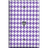Phone Jack Cover in Bright Purple & White Houndstooth- Simply Chic Gal