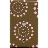 Cable Jack Cover in Brown & Pink Starburst Dots Handmade- Simply Chic Gal
