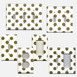 Chocolate Brown Polka Dots Light Switch Plates & Outlet Covers