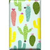Single Blank Cover in Southwest Desert Cactus Succulents Print