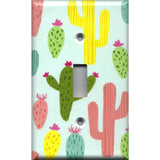 Single Light Switch Plate in Southwest Desert Cactus Succulents Handmade- Simply Chic Gal