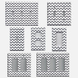 Silver Charcoal Gray Chevron Print Light Switch Plates & Outlet Covers