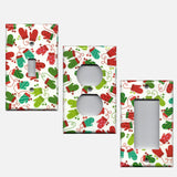 Red and Green Christmas Mittens Light Switch Plate Covers & Outlet Covers