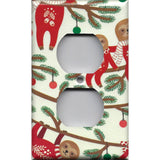 Sloths in Christmas Sweaters Outlet Plate Cover